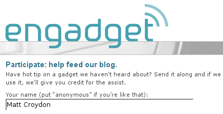 Engadget form