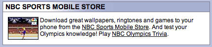 NBC Mobile store blurb